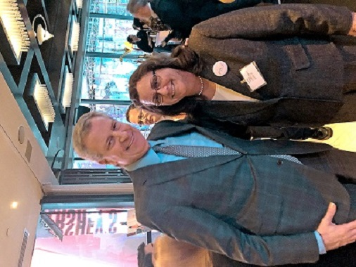 Anne with Mayor Bill de Blasio